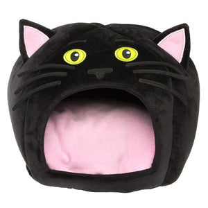 Halloween Cat Hut Pet Bed