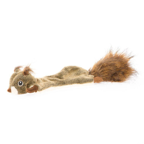 Realistic Flattie Squirrel Dog Toy