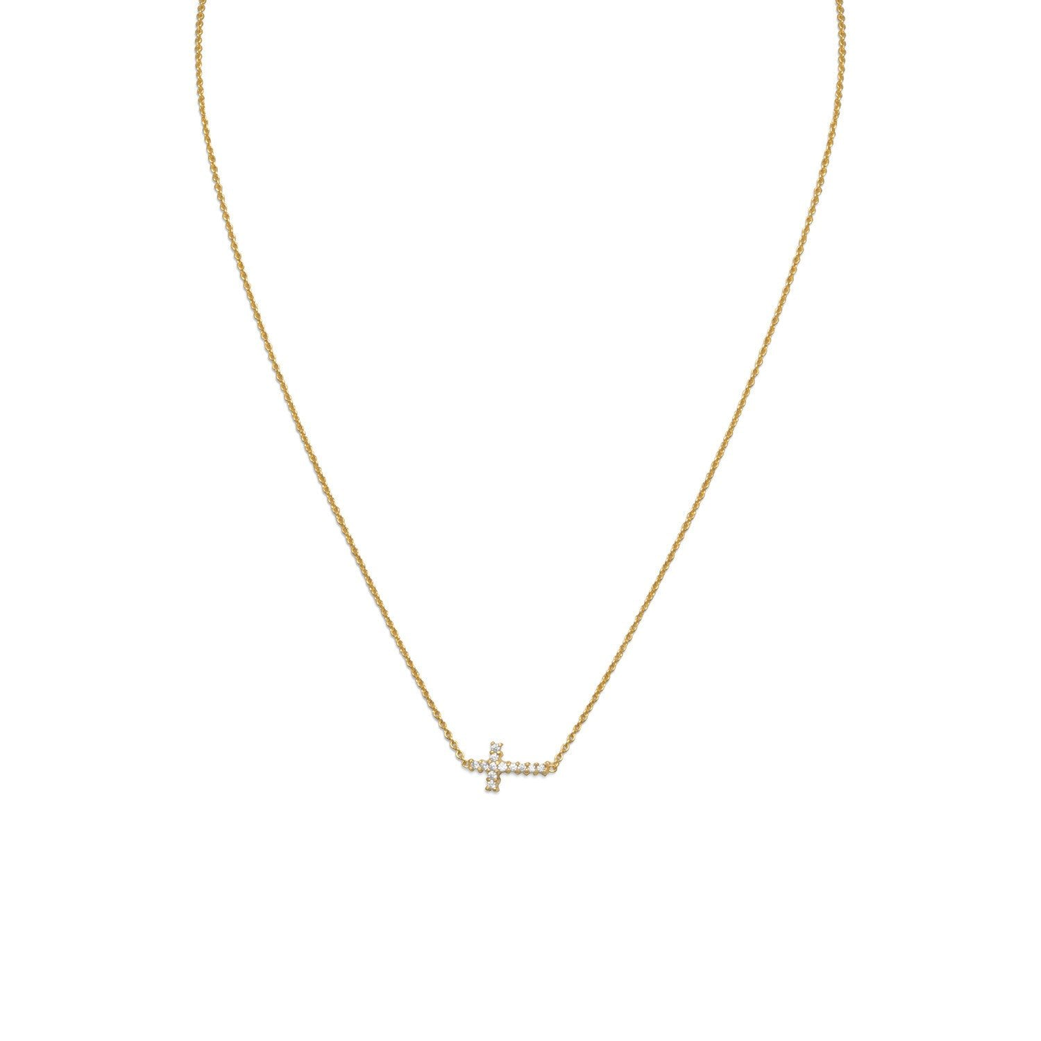 14kt Gold Plated Cross Necklace