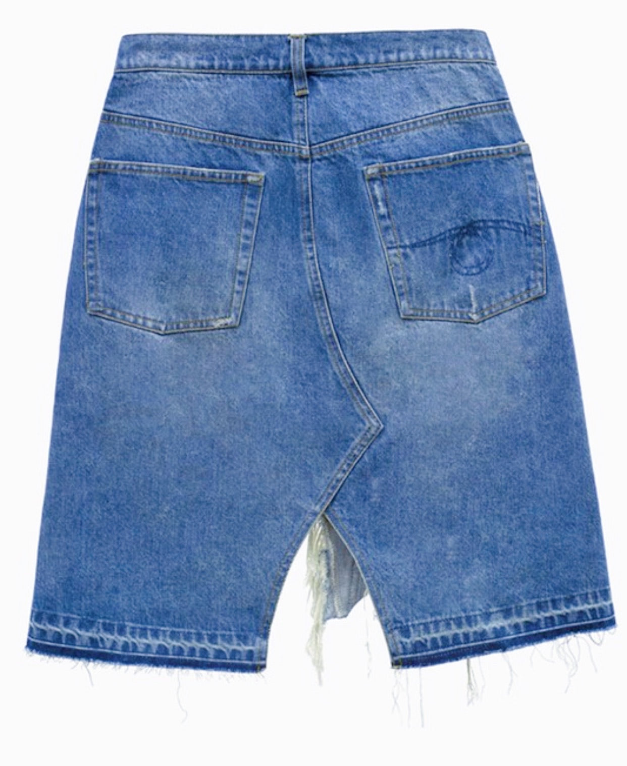 Too Distressed | Denim Skirt