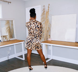 Busy Body | Leopard Mini Dress