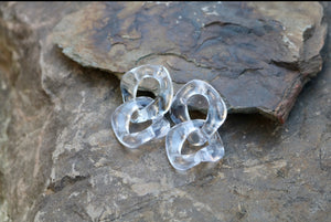Clear Acrylic Drop Earrings
