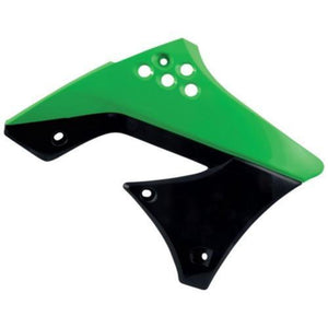 Acerbis 2141721089 Radiator Shrouds - Green/Black 09/12