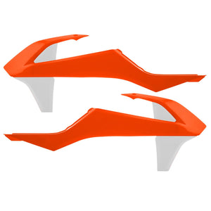 Acerbis 2421085321 Radiator Shroud - Orange/White