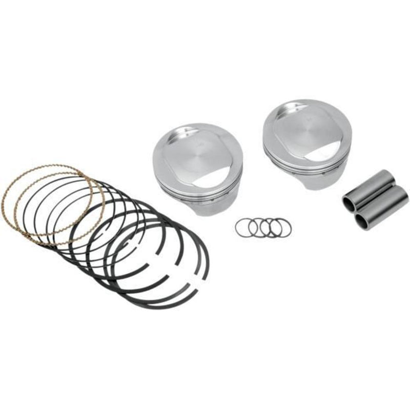 KB Performance KB305.040 Cast Piston Kit (80ci., Domed) - .040in. Oversize to 3.538in., 9.6:1 Compression