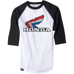 Factory Effex Honda Baseball T-Shirt Gray/Black Gray