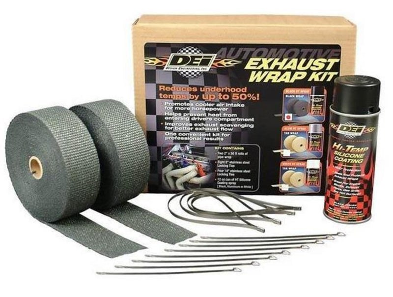 DEI 901332 Exhaust Wrap Kit - Tan Wrap with White Coating
