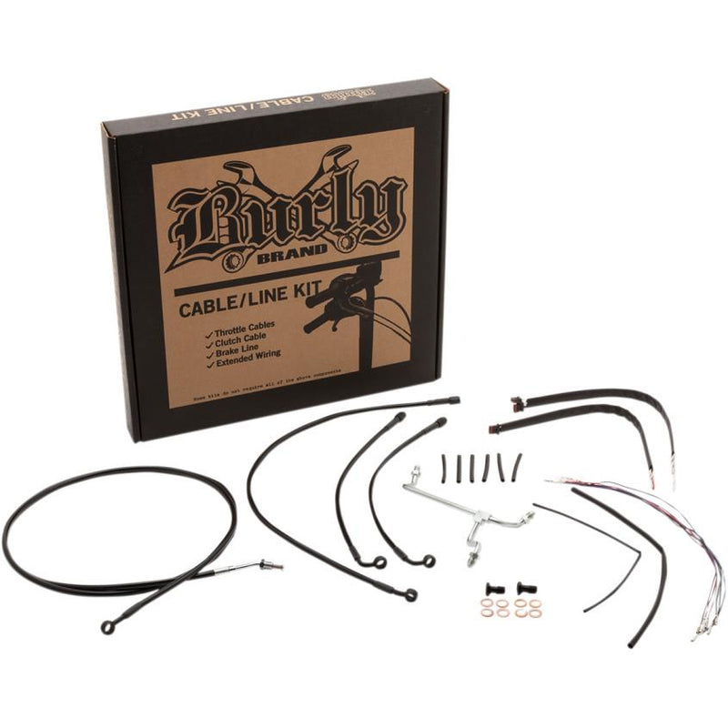 Burly Brand B30-1170 Handlebar Cable/Line Install Kit - Black