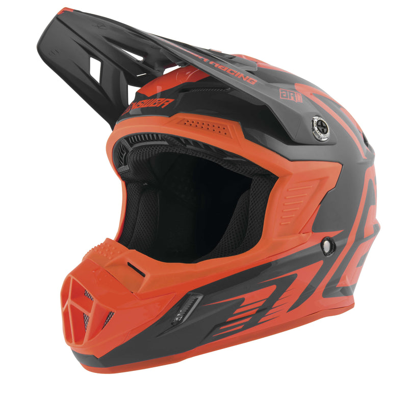 Answer AR-1 Edge Helmet Charcoal/Flo Orange Orange