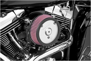 Arlen Ness 18-441 Big Sucker Stage I Air Filter Kit for OEM Cover - Chrome Backing Plate - Red Filter