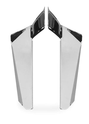National Cycle N76607 Chrome Lower Deflectors - 15.75in. (40cm)