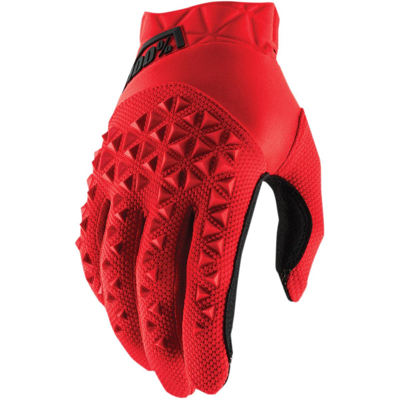 100% Airmatic Youth Gloves Red/Black Red