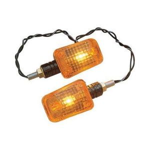 K&S Technologies 25-8149 Mini-Stalk Marker Lights - Carbon with Amber Lens