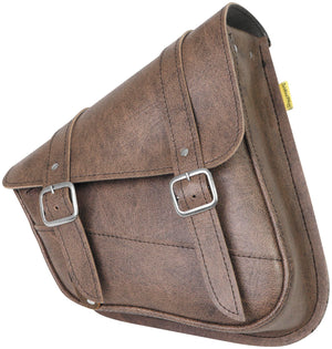 Willie & Max 59779-00 Revolution Universal Swingarm Saddlebag - Vintage Brown
