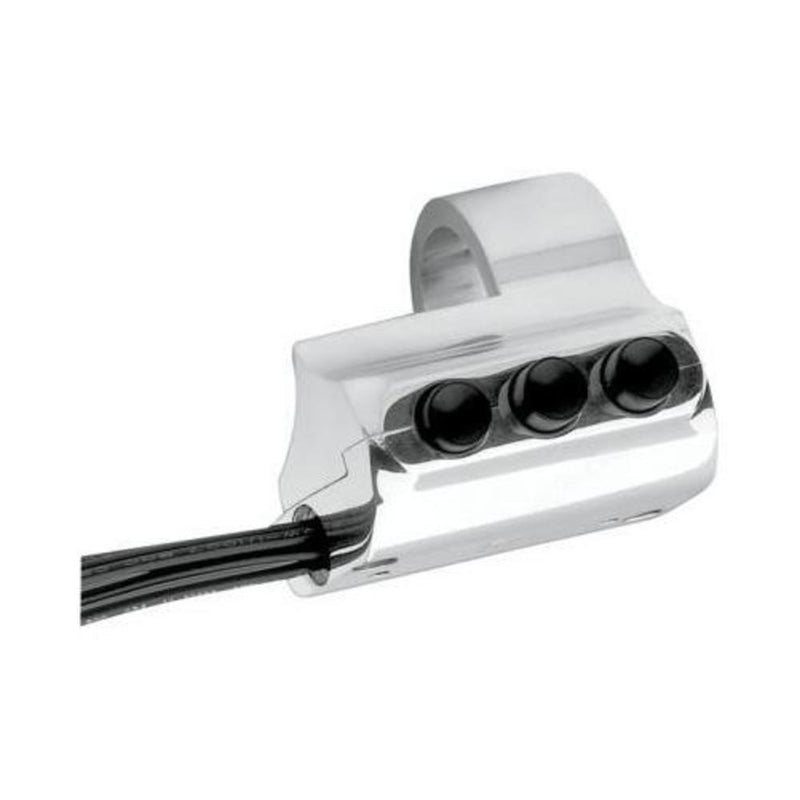 Performance Machine 0062-2035-CH Contour Billet Handlebar Switch - Left Side Housing for Cable Clutch - Chrome