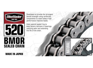BikeMaster 520BMOR-82 520 BMOR Series Chain - 82 Links - Natural