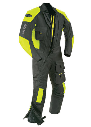 Joe Rocket Survivor Suit One-Piece Suit Black/Hi-Viz Neon Yellow