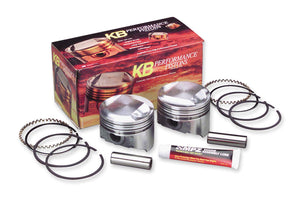 KB Performance KB409C.005 Cast Piston Kit (103ci., Flat Top) - .005in. Oversize to 3.88in., 10:1 Compression