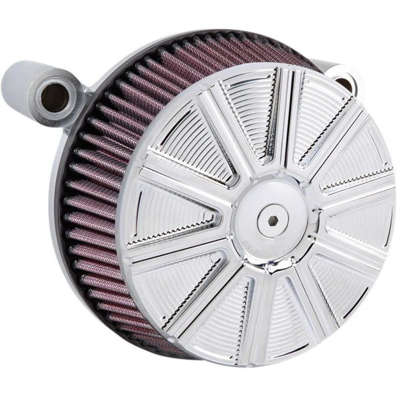 Arlen Ness 18-316 Big Sucker Stage I Air Filter Kit with Cover - 10-Gauge - Chrome