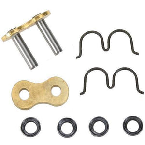 D.I.D ZJ530ZVMXS-M/L Rivet Connecting Link for 530 ZVMX Super Street X-Ring Chain - Nickel