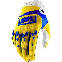 100% Airmatic Youth Gloves Yellow