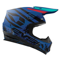 EVS T5 Grappler Helmet Dark Blue Blue