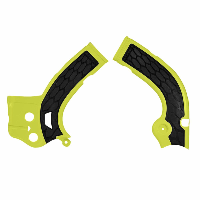 Acerbis 2630531017 X-Grip Frame Guards - Yellow/Black