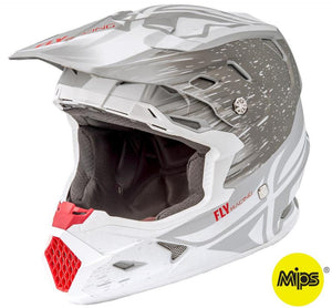 Fly Racing Toxin Resin Helmet Matte White/Gray Gray