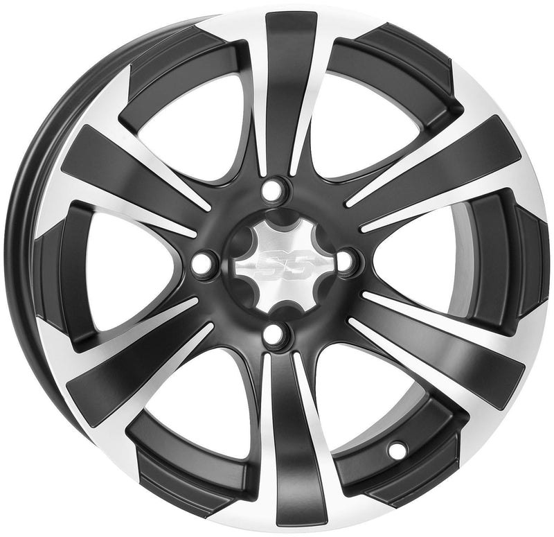 ITP 1422235536B SS212 Wheel - 14x8 - 5+3 Offset - 4/137 - Matte Black/Machined