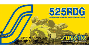 Sunstar SS525RDG-112 525RDG DualGuard Sealed Motorcycle Chain - 112 Links