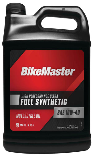 BikeMaster 532323 Full-Synthetic Oil - 10W40 - 1gal.