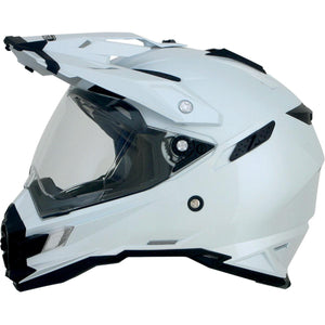 AFX FX-41DS Solid Helmet Pearl White White