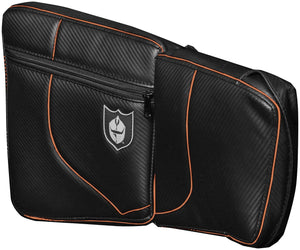 Pro Armor P141054OR Door Knee Pads - Front - Black/Orange