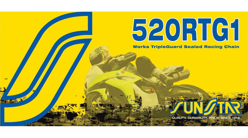 Sunstar SS520RTG1-120 520RTG1 Works Tripleguard Sealed Motorcycle Chain - 120 Links