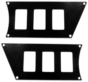 ModQuad RZR-SP6-1K-BLK 6 Slot Switch Plate - Black