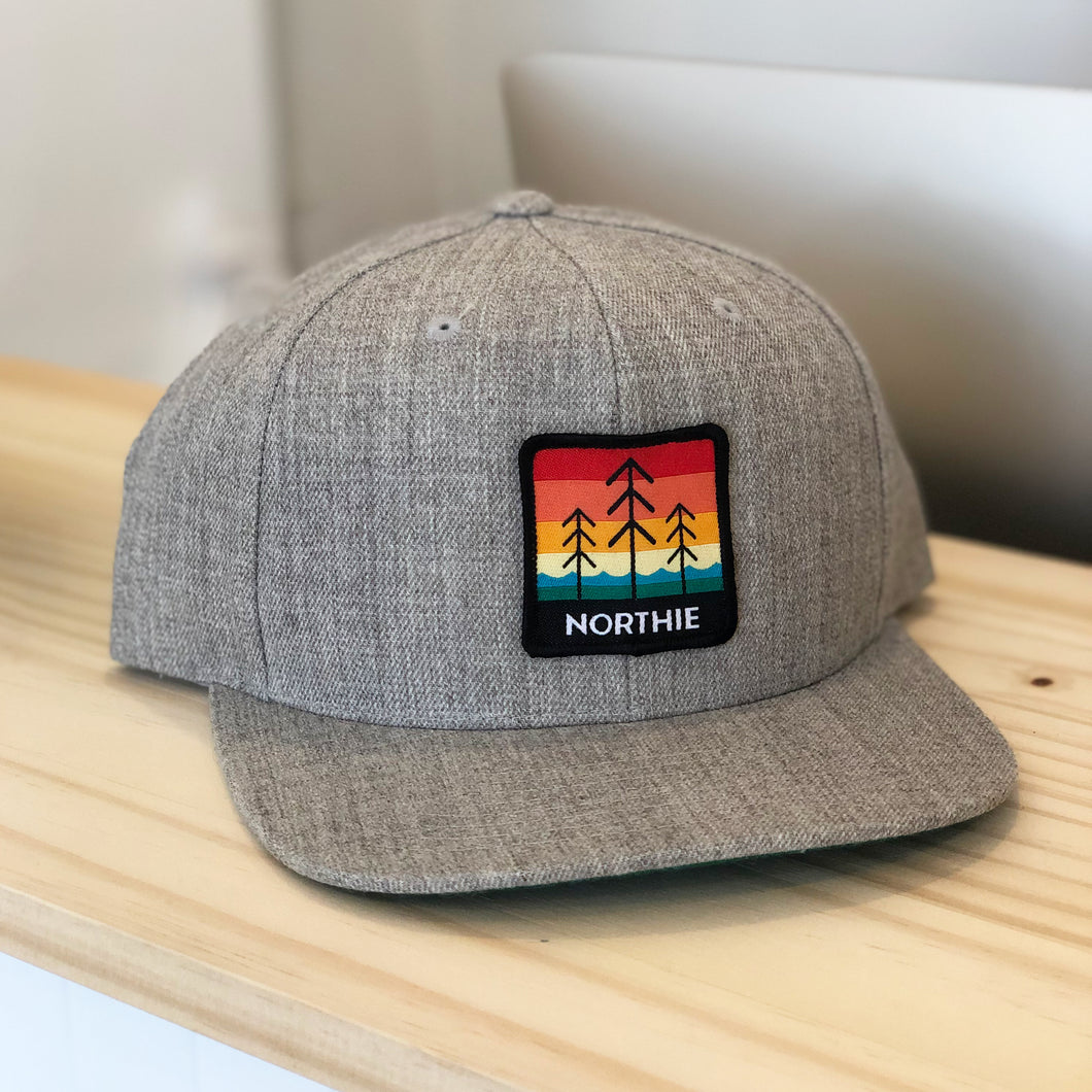 Northie Snapback Hat. Heather Gray.