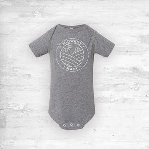 Midwest Made Onesie - Gray.