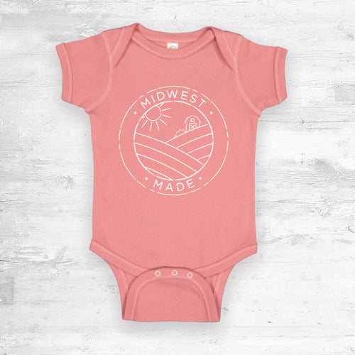 Midwest Made Onesie- Mauve.