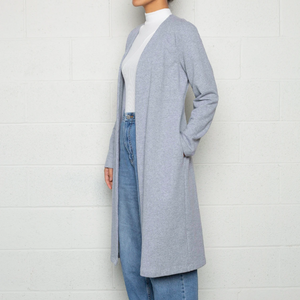 Open Front Cardigan. Heather Gray.