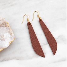 Long Leather Earrings.