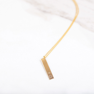 Custom Vertical Initial Necklace.