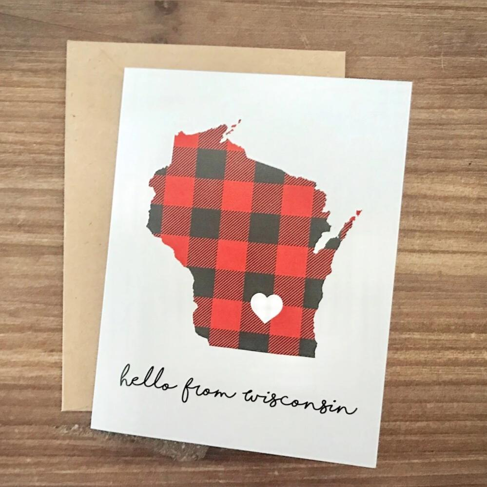 Wisconsin Greeting Card.