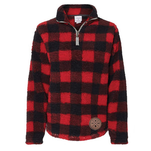 Wisconsin 1848 Sherpa. Red and Black.