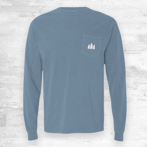 Wisconsin Favorites Long Sleeve. Light Blue.