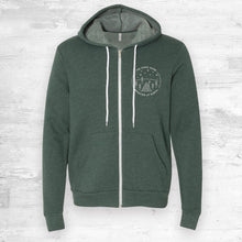 The Stars Shine Brighter Full-Zip Hoodie. Forest Heather.