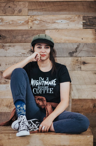 Halloween I'm a Nightmare Before Coffee Women's t-shirt