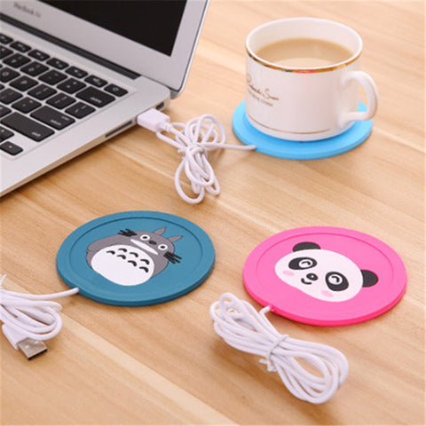 New Cartoon - 5V USB Warmer Silicone Mat Pad Beverage Heater in Mugs or Cups (Milk, Tea, Coffee, Hot Drinks)