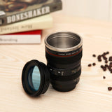 Camera Lens Shape Cup for Coffee & Tea - Travel Mug Stainless Steel Vacuum Flasks