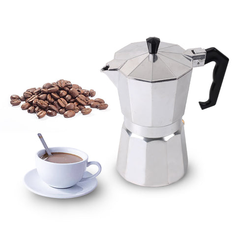 Homeleader Coffee Makers Italian Top Moka Espresso Cafeteira Expresso Percolator 3cup/6cup/9cup/12cup Stovetop Coffee Maker