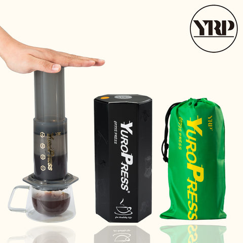 YRP YuroPress French Press Espresso Portable Coffee Maker Household DIY Coffee Pot Air Press Drip Coffee Machine Filter Paper